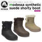 クロックス(crocs) モデッサ シンセティック スエード ショーティ ブーツ ウィメン (modessa synthetic suede shorty boot w)[C/C]