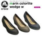 クロックス(crocs) マリン カラーライト ウェッジ ウィメン (marin ColorLite wedge w) /レディース/女性用/ヒール/シューズ