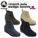 クロックス(crocs) ストレッチ ソール ウェッジ ブーティ ウィメン (stretch sole wedge bootie w)