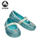 クロックス(crocs) キーリー フローズン フラット (keeley frozen flat kids) アナと雪の女王