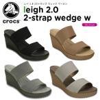 クロックス(crocs) レイ 2.0 2ストラップ ウェッジ ウィメン (leigh 2.0 2-strap wedge w) /レディース/女性用/ヒール/シューズ/