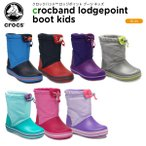 クロックス crocs クロックバンド ロッジポイント ブーツ キッズ crocband lodgepoint boot kids 203509[C/B]