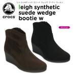 クロックス(crocs) レイ シンセティック スエード ウェッジ ブーティ ウィメン(leigh synthetic suede wedge bootie w)/レディース/ブーツ[C/C]
