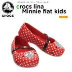 クロックス crocs クロックス リナ ミニー フラット キッズ crocs lina Minnie flat kids キッズ サンダル シューズ 子供用[C/A]