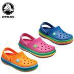 クロックス(crocs) クロックバンド レインボー バンド クロッグ キッズ(crocband rainbow band clog kids)/キッズ/サンダル/子供用[r][C/B]