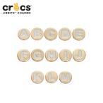 ジビッツ jibbitz ゴールドレターA-M gold letter A-M クロックス シューズアクセサリー イニシャル アルファベット[SKY][C/A-2]