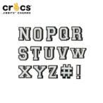 ジビッツ jibbitz レター letter N-Z クロックス シューズアクセサリー イニシャル アルファベット[SKY][C/A-2]