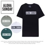 ALOHA SUNDAY アロハサンデー Tシャツ 半袖 メンズ BUMPER WHITE PRINT TEE
