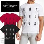 サマーセール!SATURDAYS SURF NYC サタデーズサーフニューヨーク Tシャツ メンズ 半袖 gothic tee