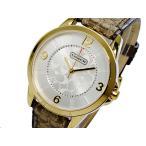 ショッピングコーチ コーチ COACH クオーツ 腕時計 クラシックシグネチャーゴールド ブラウンレザーベルトレディース14501613 おしゃれ