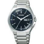 シチズン CITIZEN アテッサ ATTESA エコ・ドライブ電波 メンズ 腕時計 at6010-59e シルバー×ブラック