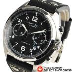 ショッピングハミルトン ハミルトン HAMILTON Khaki Pilot メンズ 腕時計 自動巻き クロノグラフ H76416735 ブラック