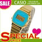 チプカシ チープカシオ カシオ レディース 腕時計 デジタル LA670WGA-2DF ゴールド×ブルー 青