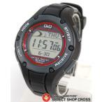 シチズン Q&Q 電波 時計 ソーラー メンズ 腕時計 デジタル MHS6-300 ブラック 黒 おしゃれ