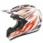 Airoh(アイロー)Jumper Sting  ホワイトオレンジブラック   オフロード ヘルメット