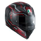 Agv  K-5 S Deep   フルフェイスヘルメット  ブラックホワイトレッド