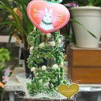 ぷりぷりのコロンとした形のグリーンネックレスのクリスマスツリー 誕生日・クリスマスなどののプレゼント 送料無料