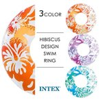 INTEX インテックス クリアカラーチューブ 浮き輪 91cm プール 海水浴 リゾート 旅行