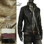 裏ボア ライダースジャケット メンズ レザージャケット シングル 合成皮革 ダブルジップ 冬 黒 ブラック ワインレッド S290905-01GW