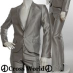 スーツ メンズ キレイメ 黒 シルバー ドレススーツ センターベンツ シングル セットアップ スーツ 美シルエット1B V260128-04ch レビューを書いて送料無料