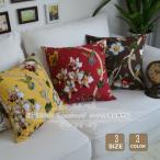 クッションカバー 花柄 30x45 45x45 60x60 北欧 綿生地 背当て 装飾枕 カバー 座布団カバー おしゃれ