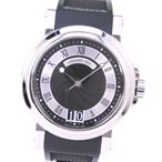 Breguet ブレゲ マリーン2 ビッグデイト  5817ST 腕時計 ラバー×ステンレススチール 自動巻き メンズ 黒文字盤 中古  A-ランク