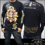 Christian Audigier クリスチャンオードジェー メンズ サーマル ロンT BUDDA ブラック 長袖 シャツ セレブ 正規 ブランド Ed Hardy