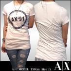 A|X Armani Exchange アルマーニエクスチェンジ レディース 半袖 Tシャツ AX`91 ロング丈 ホワイト トップス アメカジ サーフ セレカジ インポート