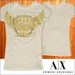 A|X Armani Exchange アルマーニエクスチェンジ レディース 半袖 スタッズ Tシャツ ロング丈 ホワイト ゴールド トップス アメカジ サーフ セレカジ
