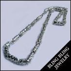 【セール】 BLING HIPHOP JEWELRY ジルコニア 入り シルバー 925 プレーティング メンズ ネックレス チェーン ストリート ヒップホップ アクセサリー 04