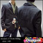 デシグアル メンズ テーラード ジャケット ブラック ニット付 Desigual テーラードジャケット 37E1932 アウター インポート ブランド セレブ カジュアル