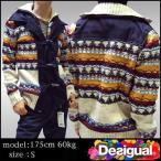 デシグアル メンズ ジャケット ネイビー ホワイト Desigual 37J1107 アウター ニット ファッション インポート ブランド アメカジ セレブ カジュアル