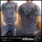 Affliction アフリクション メンズ Tシャツ チャコール 01 半袖 シャツ LA発 海外セレブ 多数着用 ブランド ハリウッド セレブ