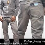 100種類以上品揃え ヌーディージーンズ NUDIE JEANS メンズ シューカット デニム パンツ REGULAR ALF USED GREY サファリ 掲載 ブランド