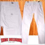 トゥルーレリジョン TRUE RELIGION メンズ デニム ローライズ スリム ダメージ GENO WFLAP ホワイト プレミアム ジーンズ LA セレブ ファッション インポート