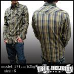TRUE RELIGION トゥルーレリジョン メンズ コットン 長袖 チェック シャツ ROCKY FOSTER チェックシャツ サファリ 掲載 ブランド