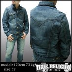 TRUE RELIGION トゥルーレリジョン メンズ デニムジャケット Cotton wood Jimmy Westean ジャケット アウター 30 サファリ 掲載  ブランド