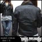 TRUE RELIGION トゥルーレリジョン レディース デニム ライダース ジャケット MOTO デニムジャケット サファリ 掲載 ブランド