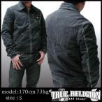 TRUE RELIGION トゥルーレリジョン メンズ カーゴ ジャケット TWILL CARGO ブラック ミリタリー アウター サファリ 掲載  ブランド