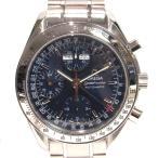 オメガ スピードマスタートリプルカレンダー 腕時計/メンズ/SALE シルバーxブルー ステンレススチール(SS) 3523.80 ランクA