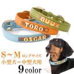 犬の首輪 犬首輪 小型犬中型犬用 名前入り首輪カシメ SMサイズ