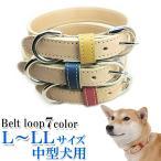 犬 首輪 おしゃれ 革 中型犬 犬首輪 犬の首輪 栃木レザーヌメ革首輪