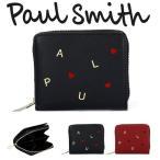 ポールスミス Paul Smith 財布 レディース 折り財布 二つ折り財布 ミニ財布 ラウンドファスナー レターズ W022