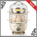 スチームクッカー フライパン フードスチーマー 蒸し器 温泉卵器 せいろ エッグスチーマー タイマー式 ゆで卵