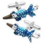 カフス カフスボタン SWANK スワンク チョコレート ブルー パラソルチョコ カフリンクス メンズアクセサリー ニューヨーク発 ブランド