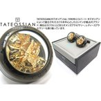 TATEOSSIAN タテオシアン ユニークパノラマプレシャスリーフカフス(ガンメタル&ゴールド0.006g) (カフスボタン カフリンクス) ブランド