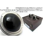 TATEOSSIAN タテオシアン シグニチャーラウンドシルバーカフス(オニキス) (カフリンクス) ブランド