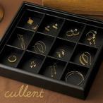 ショッピングジュエリーボックス ジュエリーボックス コレクションボックス アクセサリーケース 収納 ジュエリートレイ[ブラック]  3×4マス ストックトレー