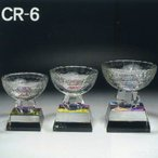 トロフィー クリスタル 名入れ記念品 表彰 CR−6 小 高さ11cm