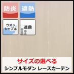 提灯モール遮像レース(W100cm×H198cm〜H238cm)(ホワイト) カーテン 遮熱・断熱 防炎 遮像